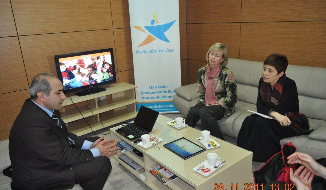 Visite de Françoise Pissart(Directrice de la Fondation Roi Baudouin) et Anne-Françoise Genel (Responsable de Projet)